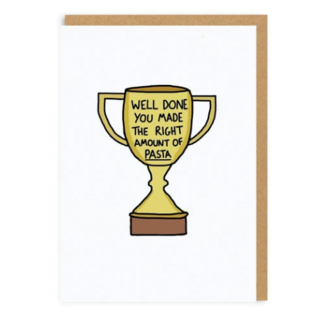 Ohh Deer Greeting Card - Right Amount of Pasta