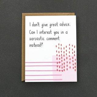 Public School Paper Co. Encouragement Card - Sarcastic Comment