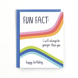 Public School Paper Co. Birthday Card - Fun Fact