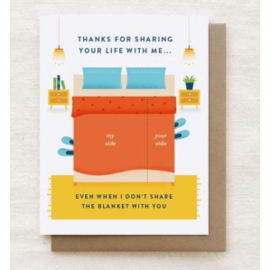 Quirky Paper Co. Anniversary Card - Blanket