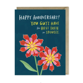 Emily McDowell and Friends Anniversary Card - Taste In Spouses