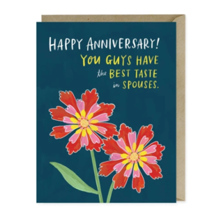 Em and Friends Anniversary Card - Taste In Spouses
