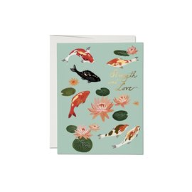 Red Cap Cards Encouragement Card - Koi Fish