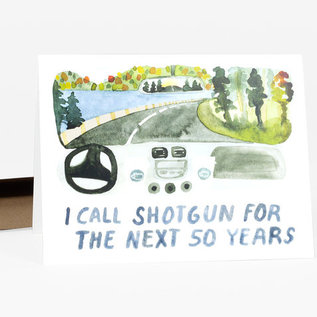 Buy Olympia Anniversary Card - I Call Shotgun