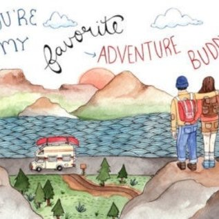 Little Canoe Love Card - Adventure Buddy