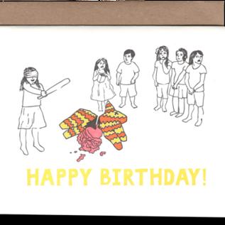 Power and Light Press Birthday  Card - Pinata Guts