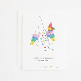 Party Sally Birthday Card - Pinata
