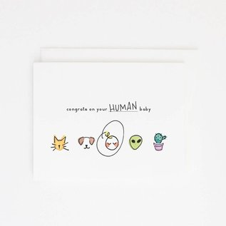 Party Sally Baby Card - Human Baby