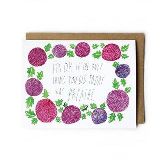 Yuko Miki Encouragement Card - It's Okay … Breathe