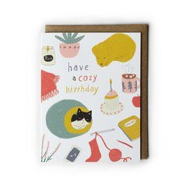 Yuko Miki Birthday Card - Cozy Birthday