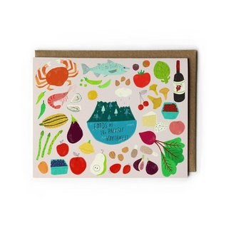 Yuko Miki Greeting Card - Foods of the PNW