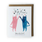 Yuko Miki Congrats Card - Cats High Five