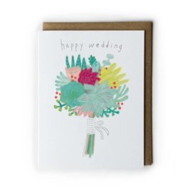 Yuko Miki Wedding Card - Succulent Bouquet