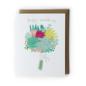 Yuko Miki Wedding Card - Succulent Bouquet