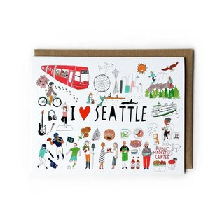 Yuko Miki C - I Heart Seattle Icons