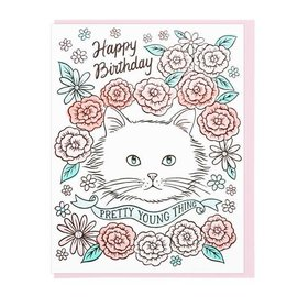 Lucky Horse Press Birthday Card - Pretty Young Thing