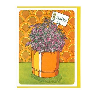 Lucky Horse Press Thank You Card - Polka Dot Plant