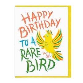 Lucky Horse Press Birthday Card - Rare Bird