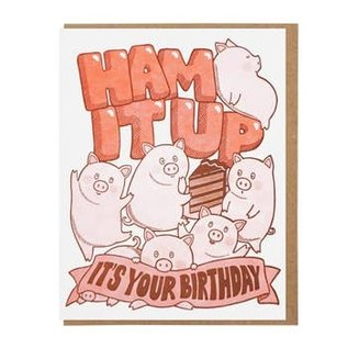 Lucky Horse Press Birthday Card - Ham It Up