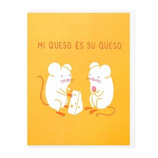 Lucky Horse Press Greeting Card - Mi Queso Es Su Queso