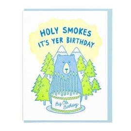 Lucky Horse Press Birthday Card - Holy Smokes