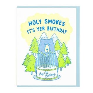 Lucky Horse Press Birthday Card - Holy Smokes