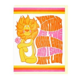 Lucky Horse Press Birthday Card - I Ain't Lion