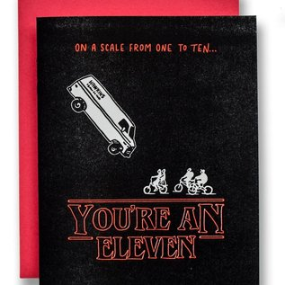 Ladyfingers Letterpress Greeting Card - You're An Eleven