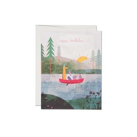 Red Cap Cards Birthday Card - Four Canoe