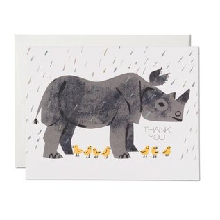 Red Cap Cards Thank You Card - Rhino