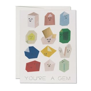 Red Cap Cards Greeting Card  - Gem Buddies
