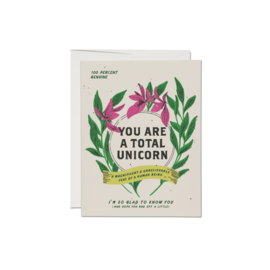 Red Cap Cards Greeting Card - Total Unicorn
