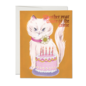 Red Cap Cards Birthday Card - Kitty and Cake (Closer to Grave)