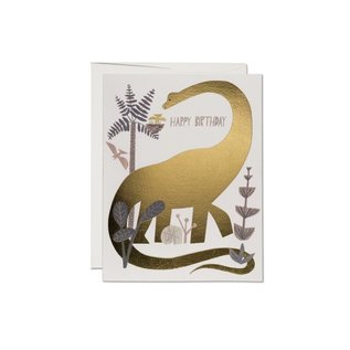 Red Cap Cards Birthday Card - Dinosaur Foil