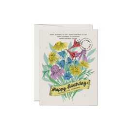 Red Cap Cards Birthday Card - Cute Little Flower
