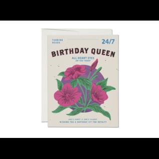 Red Cap Cards Birthday Card - Birthday Queen