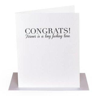 Paper Epiphanies Wedding Card - Long Fucking Time