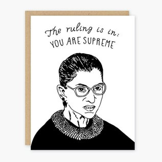 Party of One Greeting Card - RBG You Are Supreme