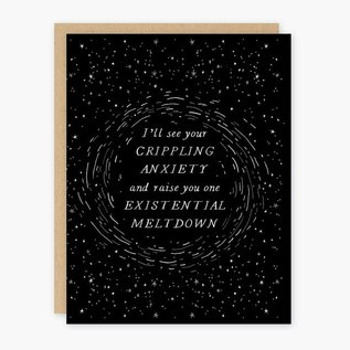 Party of One Greeting Card - Existential Meltdown