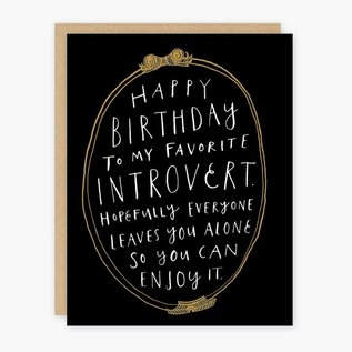 Party of One Birthday Card - Introvert Birthday