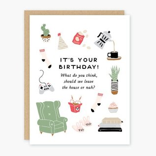 Party of One Birthday Card - Homebody
