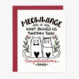Paper Pony Co. Wedding Card - Meowwaige