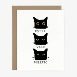 Paper Pony Co. Greeting Card - Coffee Weed Burrito