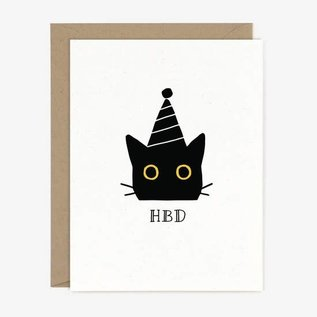 Paper Pony Co. Birthday Card - HBD Cat