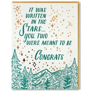 Paper Parasol Press Wedding Card - Written in the Stars