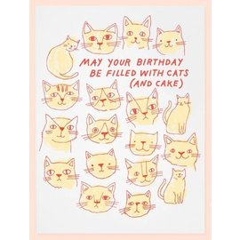 The Good Twin Birthday Card - Cats & Cake