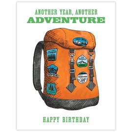 Waterknot Birthday Card - Backpack Adventure