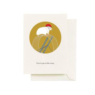Seltzer Birthday Card - Hamster Wheel