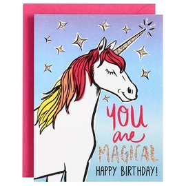 Waste Not Paper Birthday Card - Magical Unicorn