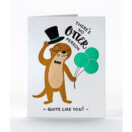 Elum Birthday Card - Fancy Otter